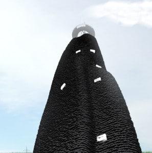 Gebäude mit Carbon Platten