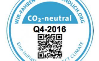 Plakette Wir fahren klimafreundlich