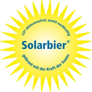 Solarbier - gebraut mit der Kraft der Sonne