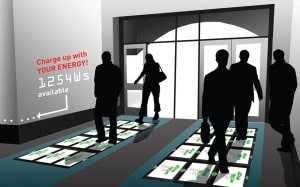 Strom selbst gemacht - im Büroeingang